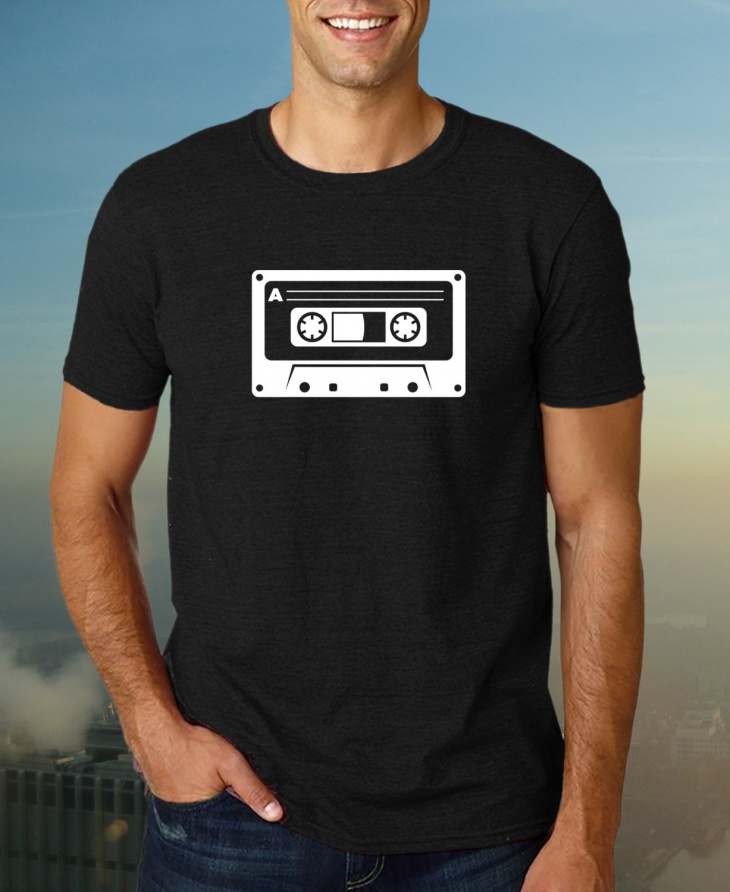 retro music t shirt idea