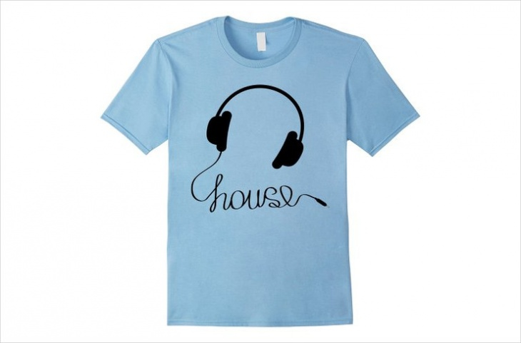 house music t shirt design