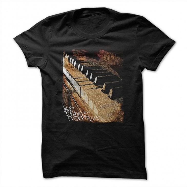 piano music t shirt