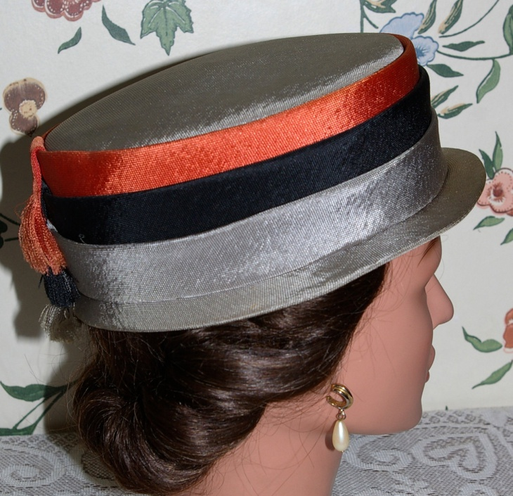 striped fringe hat