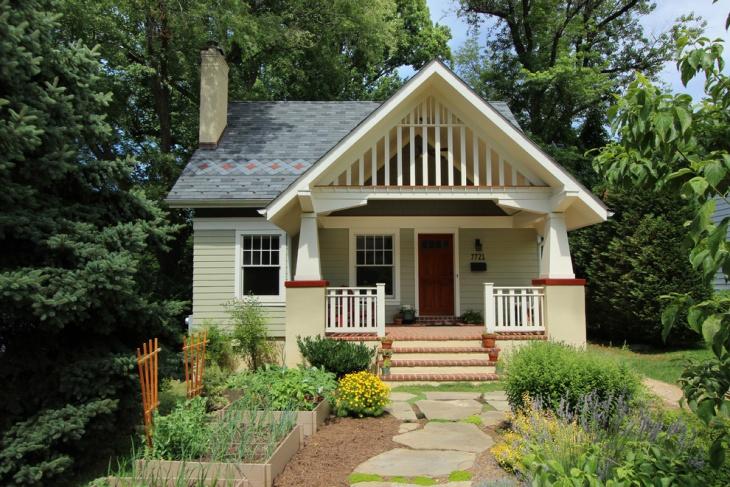 Eclectic Cottage Front Porch