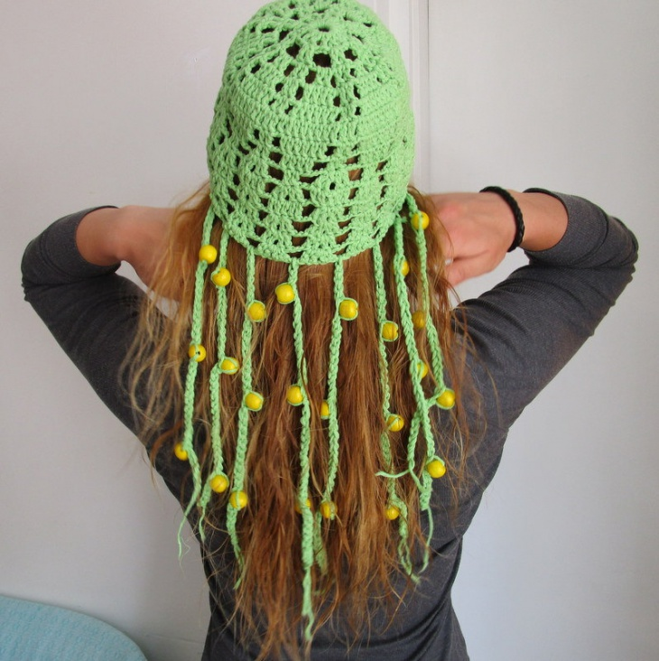 beaded fringe hat design