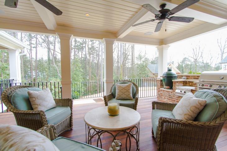 White Cottage Porch Idea