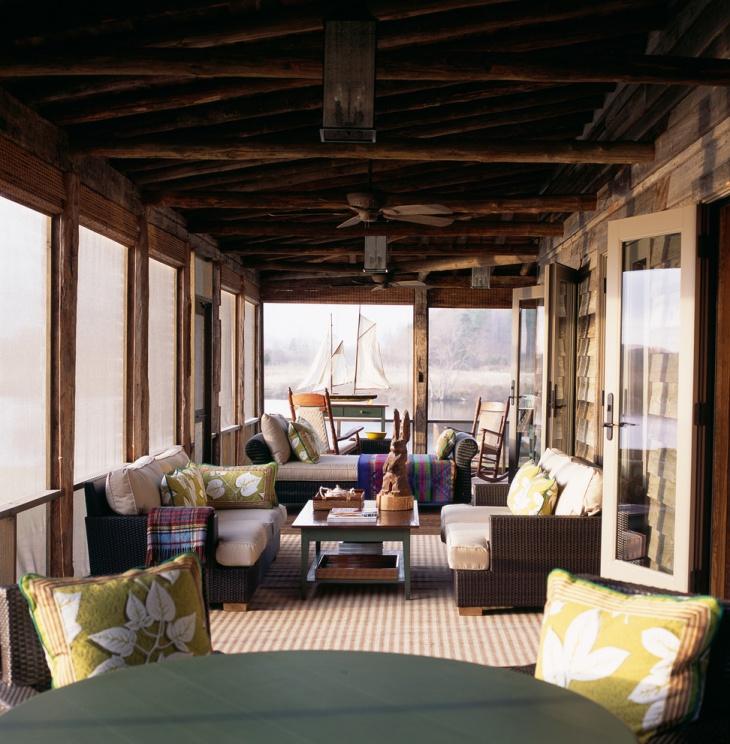 Rustic Cottage Porch Idea