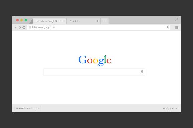Flat Web Browser Mockup
