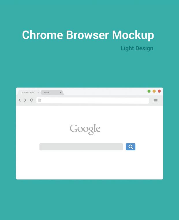 Chrome Browser Mockup Design