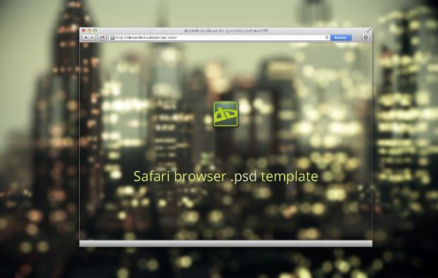 Safari Web Browser Mockup Template