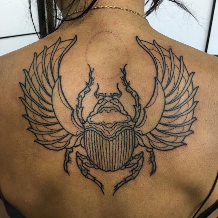 Traditional Scarab Tattoo