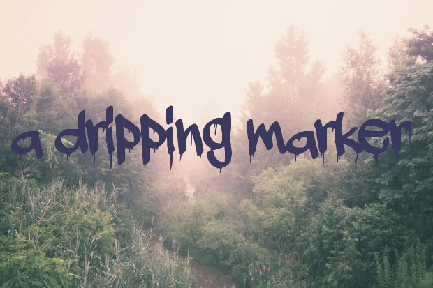 Dripping Marker Font