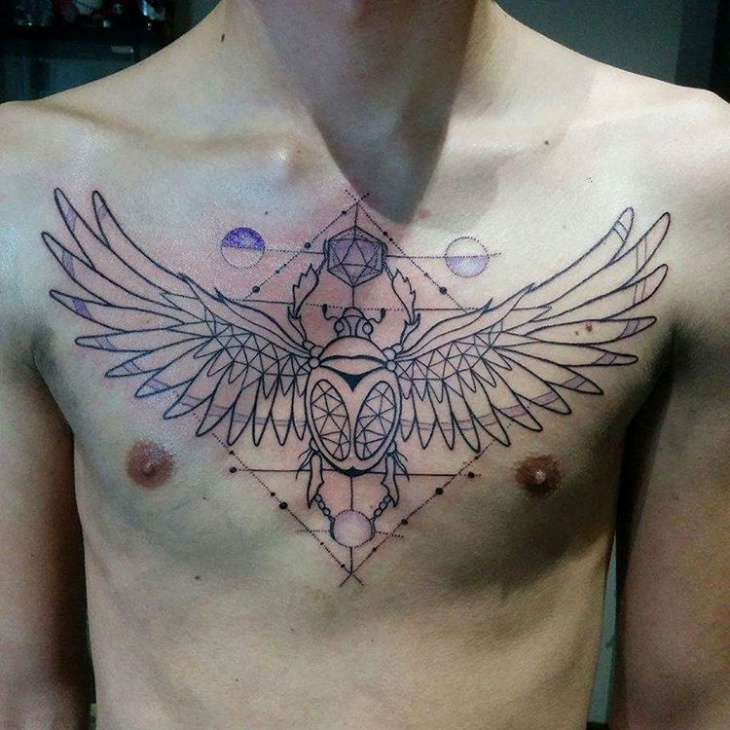 geometric scarab tattoo