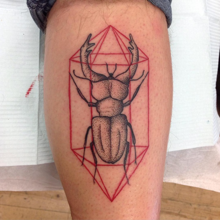 scarab bug tattoo design
