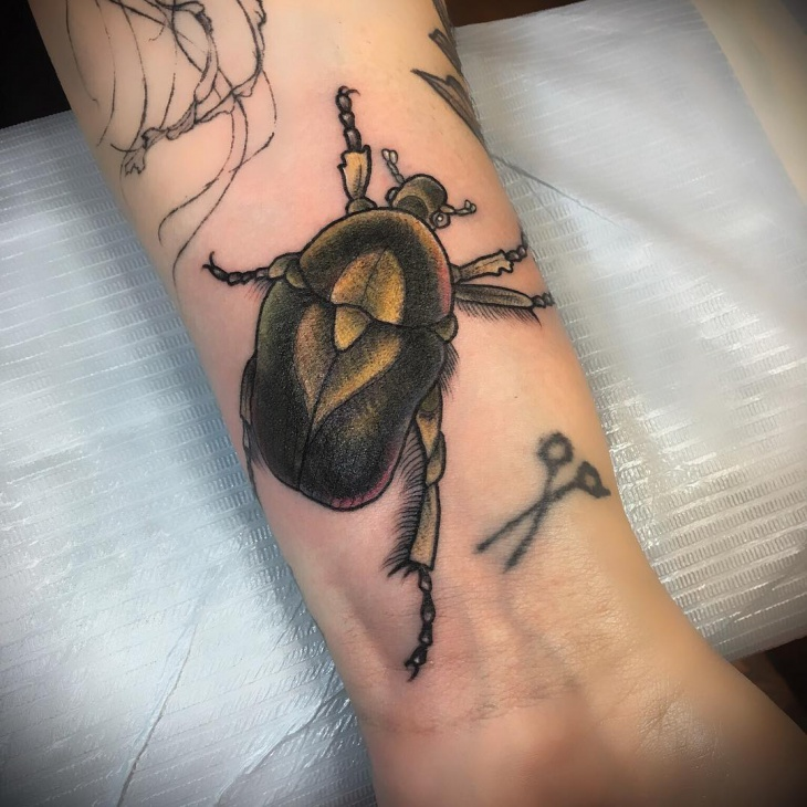 Scarab Tattoo on Hand