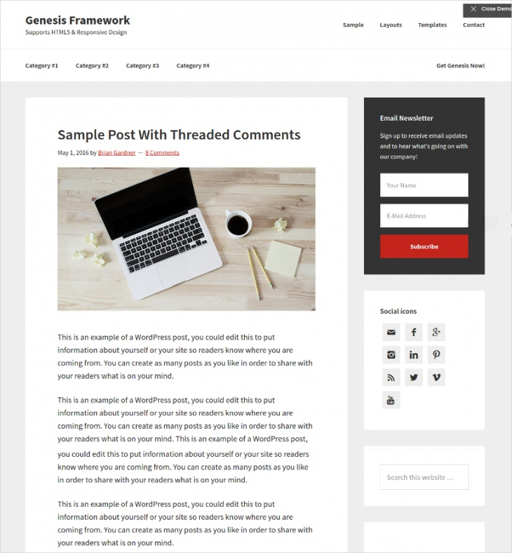 Professional WordPress Theme For Incredible Websites