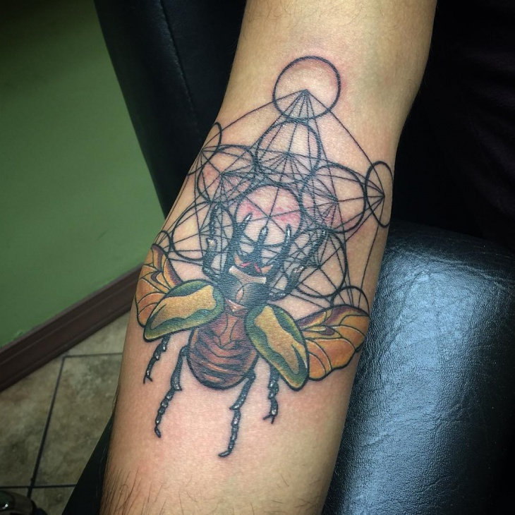 cool scarab tattoo design