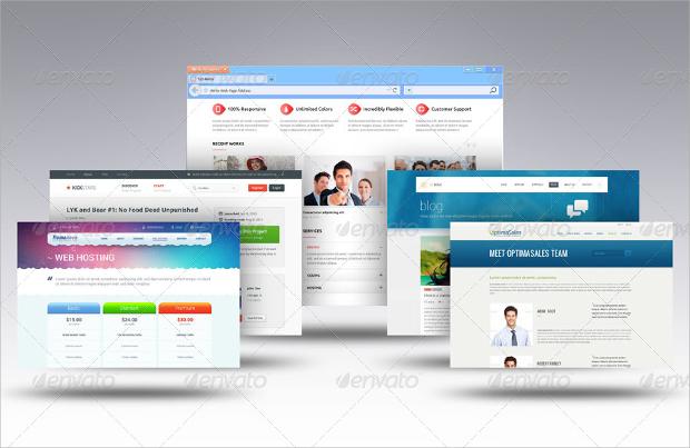 Web Browser Display Mockup