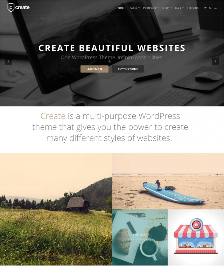 Simple Page Layout Professional WordPress Template