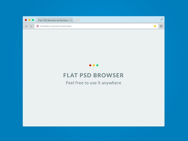 Free Psd Responsive Flat Web Browser Mockup