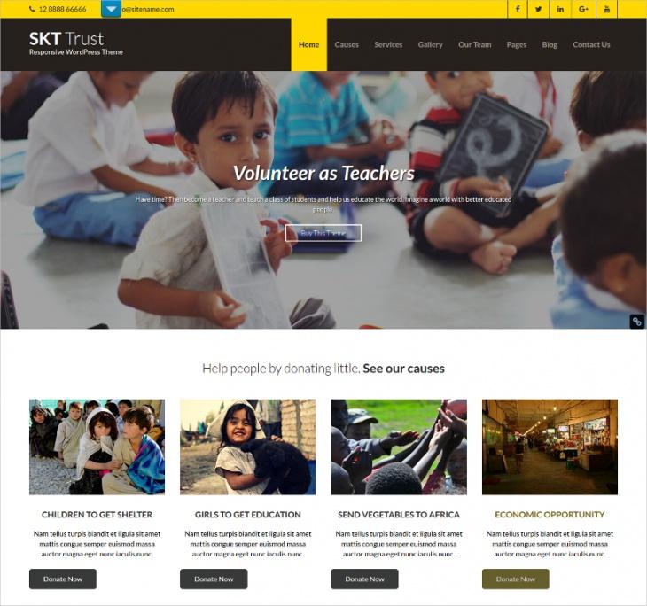 translation ready professional non profit wordpress template