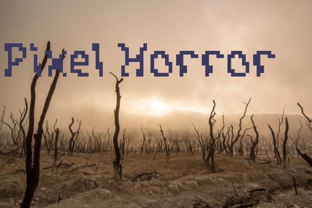 pixel horror font