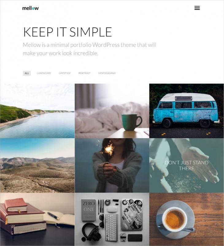 Filterable Portfolio Professional WordPress Theme