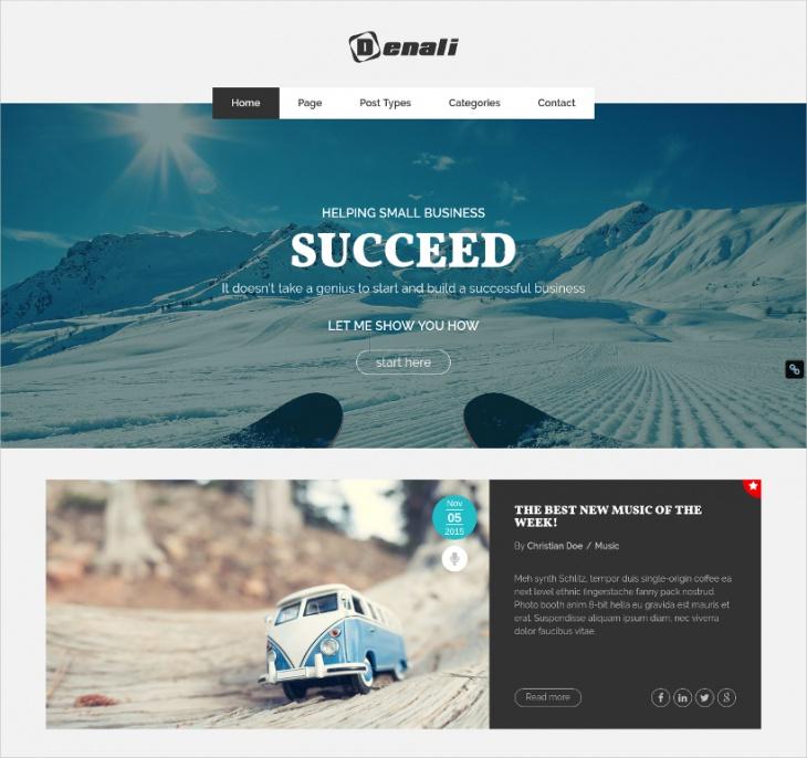 Creative Professional Blogging WordPress Theme