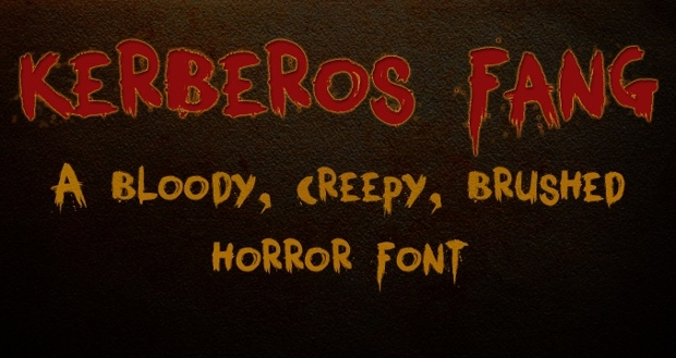 Blood Splattered Horror Font