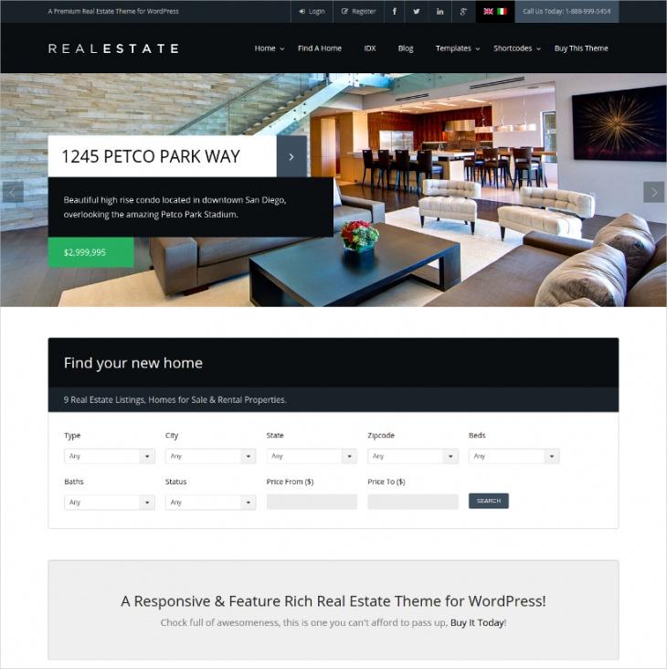 Real Estate WordPress Themes