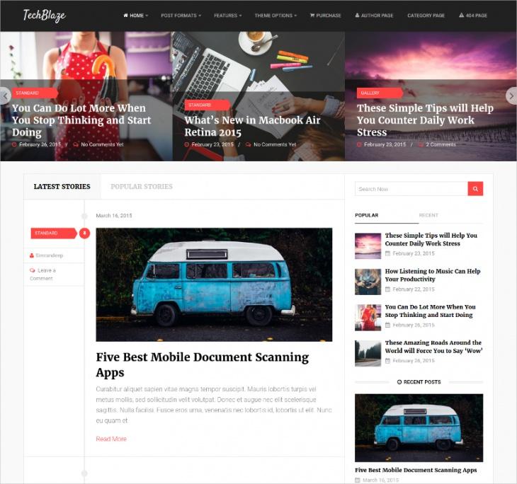Retina Ready WordPress Blog Theme