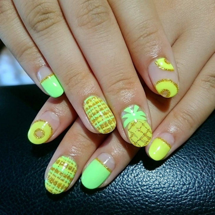 21 Pineapple Nail Art Designs Ideas Design Trends Premium Psd Vector Downloads
