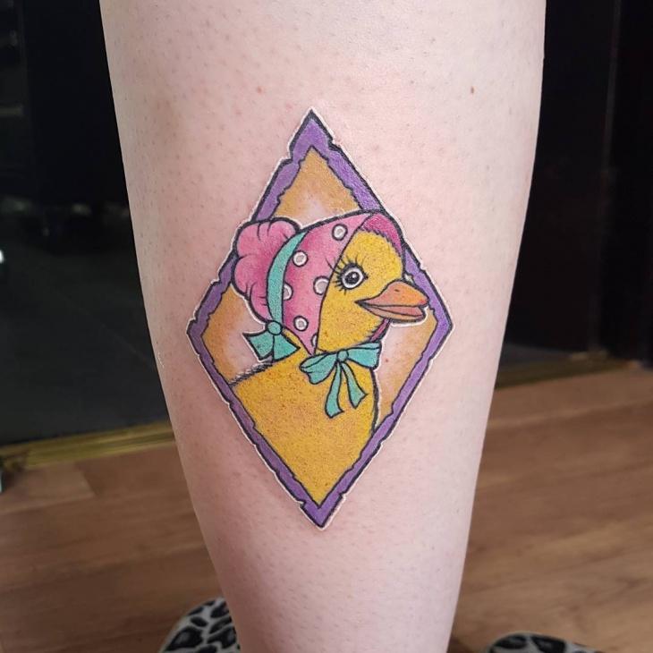 Lady Duck Tattoo Idea