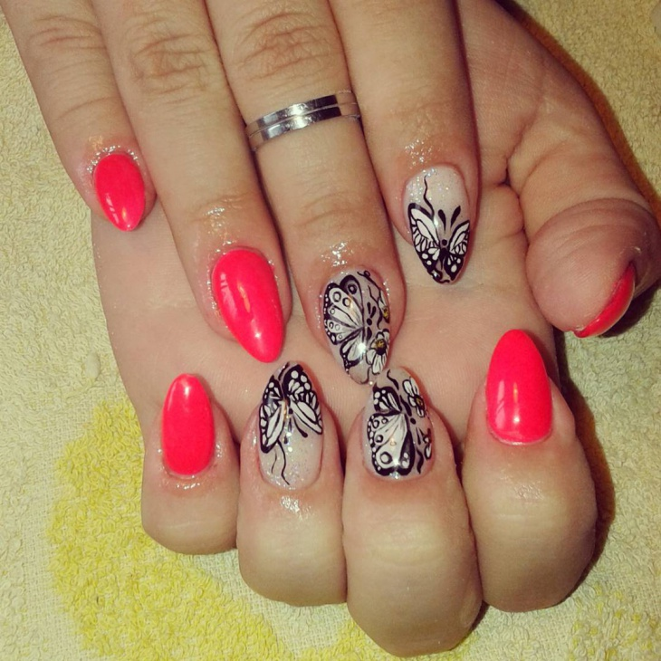 Awesome Butterfly Nail Art