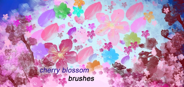 cherry blossom petal brush set