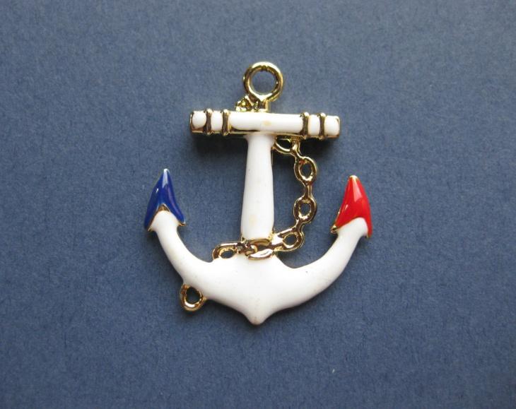 Enamel Anchor Pendant