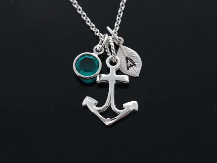 Personalized Anchor Pendant