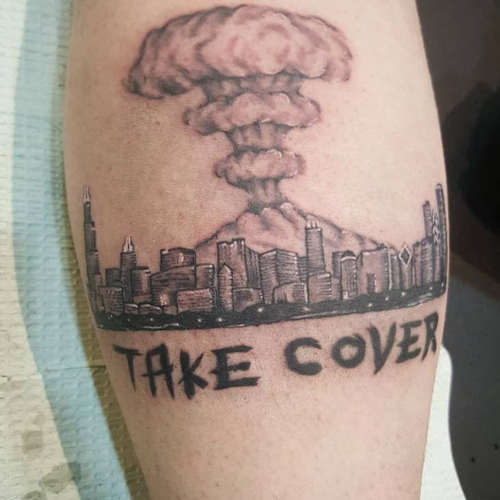 Mushroom Cloud Tattoo Design