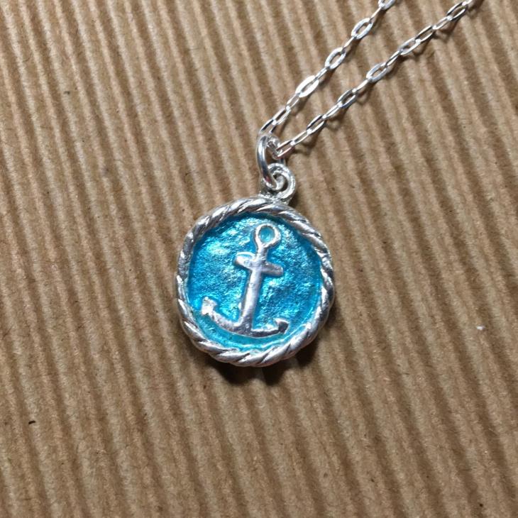 Silver Anchor Pendant