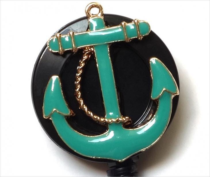Turquoise Anchor Pendant