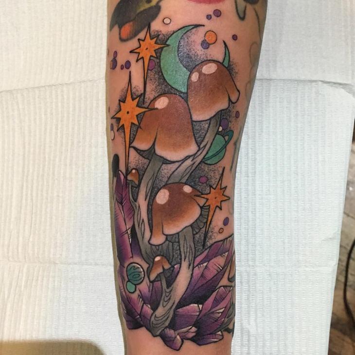 Mushroom Tattoo on Hand