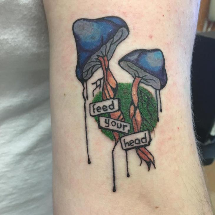 Beautiful Mushroom Tattoo Design