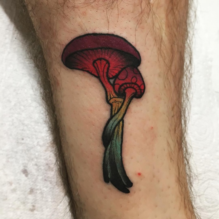 Magic Mushroom Tattoo for Men