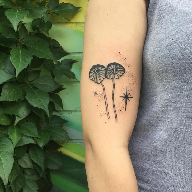Mushroom Tattoo on Arm