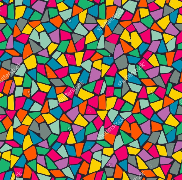 Colorful Vector Mosaic Pattern