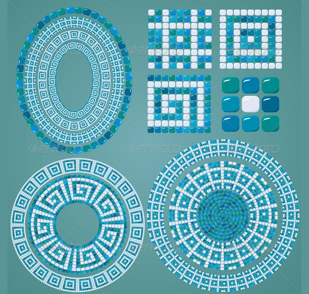 Mosaic Ring Pattern Design
