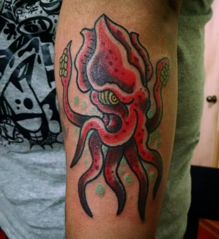 Vampire Squid Tattoo