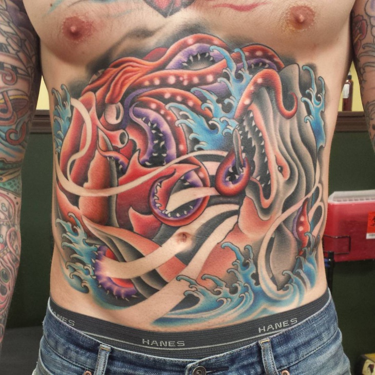 Squid Stomach Tattoo