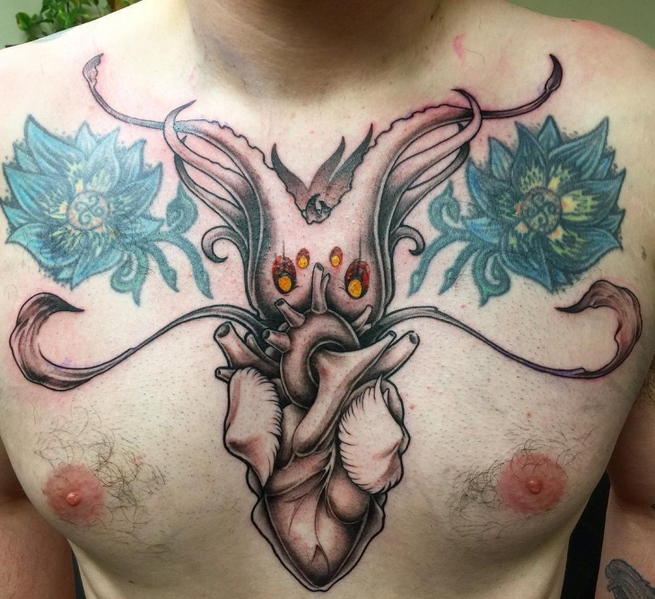 Squid Heart Tattoo Idea