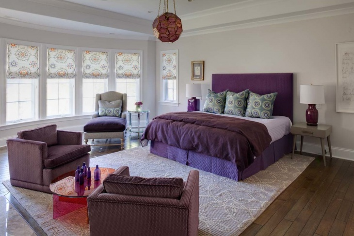 bedroom monochromatic furniture design