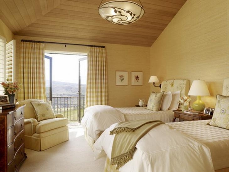 cool bedroom monochromatic decor