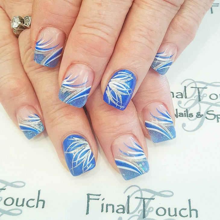 glitter swirl nail art
