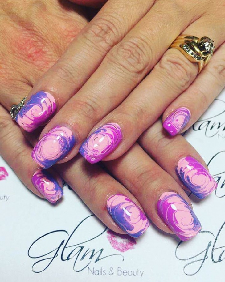 21+ Swirl Nail Art Designs, Ideas